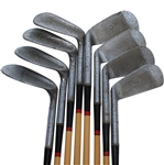 Robert T. Jones Jr. Spalding Kro-Flite Set of Irons 2-9 - Pat. 1,551,562 - Roth Collection