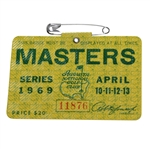 1969 Masters Tournament Badge #11876 - George Archer Winner