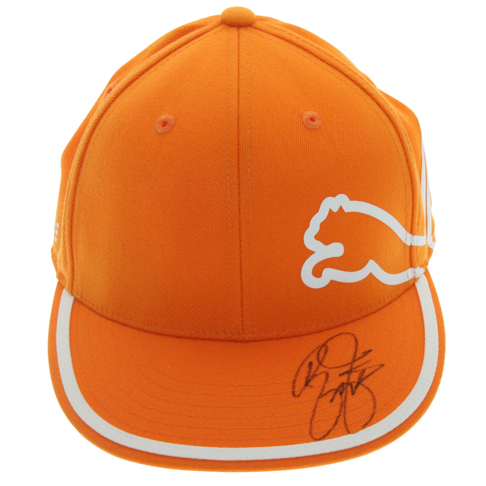 check out 0f1f8 70896 Rickie Fowler Signed Orange with White PUMA Hat JSA  P76639 ...