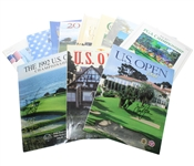 Nine Major Championship Programs Plus Two Ryder Cup Programs - Three Signed JSA ALOA
