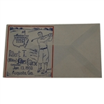 1933 Bobby Jones Course Augusta National GC First Day Cover - Printing Error