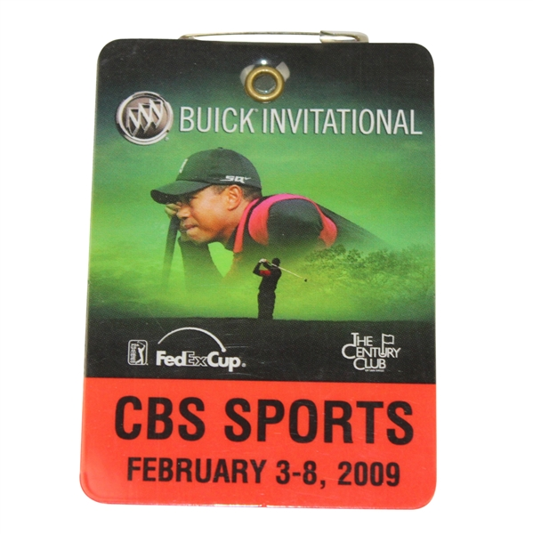 2009 Buick Invitational As Issued To Tiger Woods-Badge Depicts Tiger