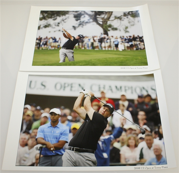 Assorted 2008 US Open at Torrey Pines Items - Annual, Spectator Guide, Pairing Sheets and More