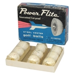 Plymouth Power Flite Steel Center Golf Balls - Three Sleeves and Original Box - Roth Collection