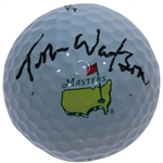 Tom Watson Signed Masters Logo Golf Ball JSA ALOA