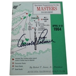 Arnold Palmer Signed 1964 Masters Spectator Guide - Arnies Final Major Win JSA ALOA