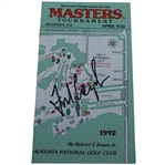 Fred Couples Signed 1992 Masters Spectator Guide JSA ALOA