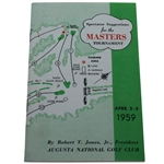 1959 Masters Spectators Guide - Art Wall Jr Win