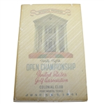 1941 US Open at Colonial Country Club Program with Cover - Craig Wood Winner