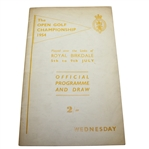 1954 Open Championship at Royal Birkdale Program - Wednesday - Peter Thomson Winner