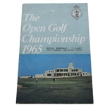 1965 Open Championship at Royal Birkdale Program - Peter Thomson Winner