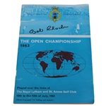 Bob Charles Signed 1963 Open Championship at Royal Lytham & St. Annes Program