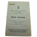 1936 Open Championship at Hoylake Tuesday Program - Alf Padgham Win