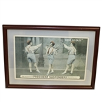 President Suspenders None So Easy Advertisement with Three Female Golfers - Framed