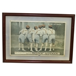 President Suspenders None So Easy Advertisement with Five Female Golfers - Framed