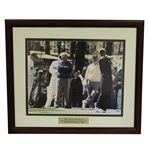 Tiger Woods First Masters 16x20 Photo with Jack & Arnie - 1996 - Framed