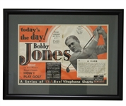 Bobby Jones How I Play Golf Todays the Day Release Promo Ad - Framed