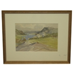 From the Ladies View Near Killarney - Ireland Original Watercolor by Montague Webb - Framed