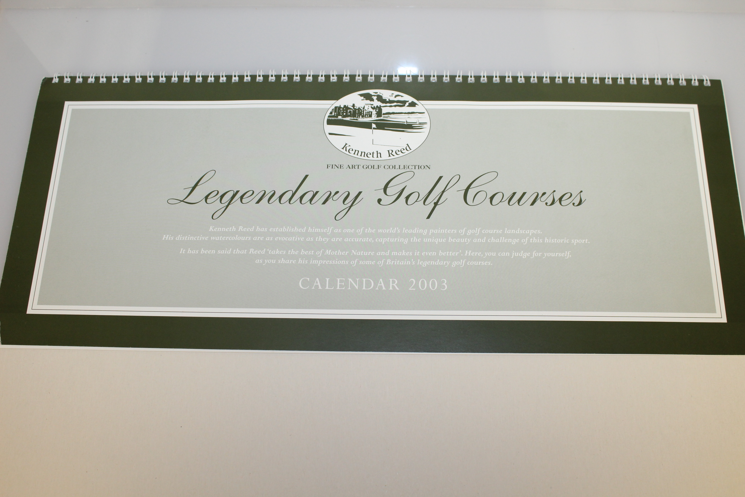 Lot Detail - Ken Reed 2003 Golf Calendar with Eight Prints for Framing