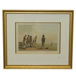 Circa 1885 Knurr & Spell Engraving by E. Kaufman from Original Circa 1814 By George Walker Del - Framed
