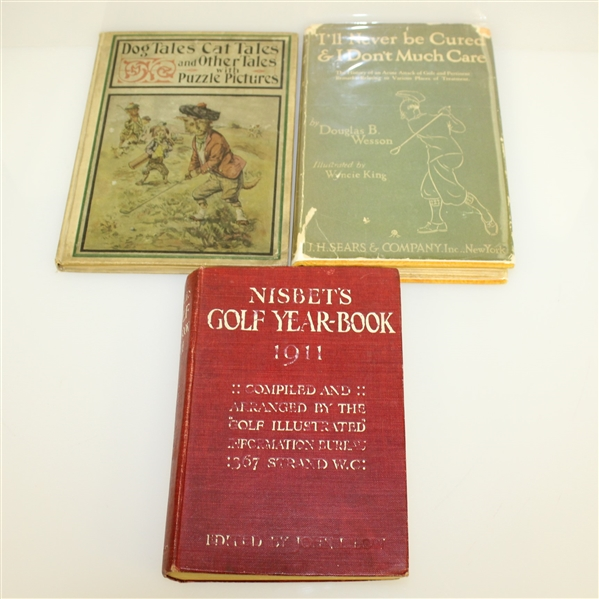 Lot Detail - Four Golf Books: Nisbet Golf Yearbook, Dog/Cat