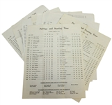 Nine Masters Tournament Sunday Pairing Sheets - 1979, 1981-1985, 1987(x2), & 1988 - Roth Collection
