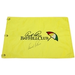 Arnold Palmer Signed Bay Hill Club Embroidered Yellow Flag JSA ALOA
