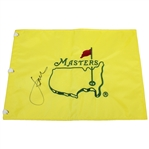 Jordan Spieth Signed Undated Masters Embroidered Flag PSA/DNA Full Letter