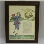 Framed Golf Print - The Feathery - Vintage Golfer Depicted