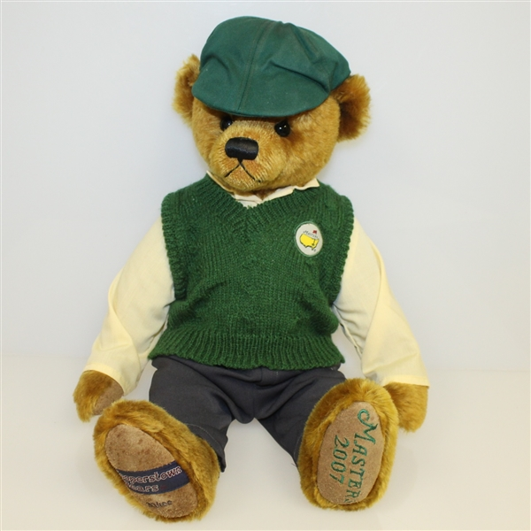 Large 2007 Masters Cooperstown Bear with Certificate of Authenticity and Wooden Box