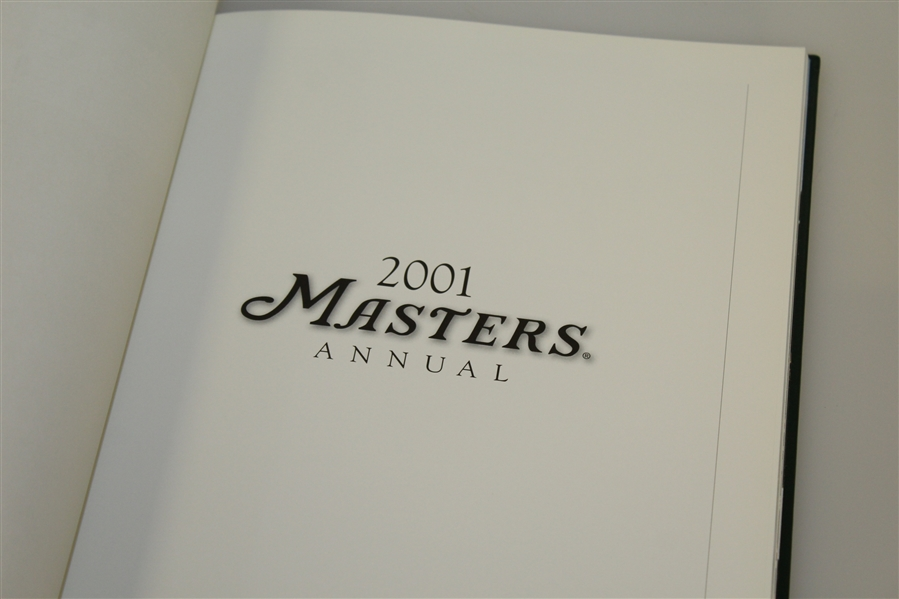 2001 Masters Tournament Annual Book - Tiger Woods Winner