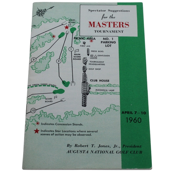1960 Masters Spectator Guide - Arnold Palmer's Second Masters Win