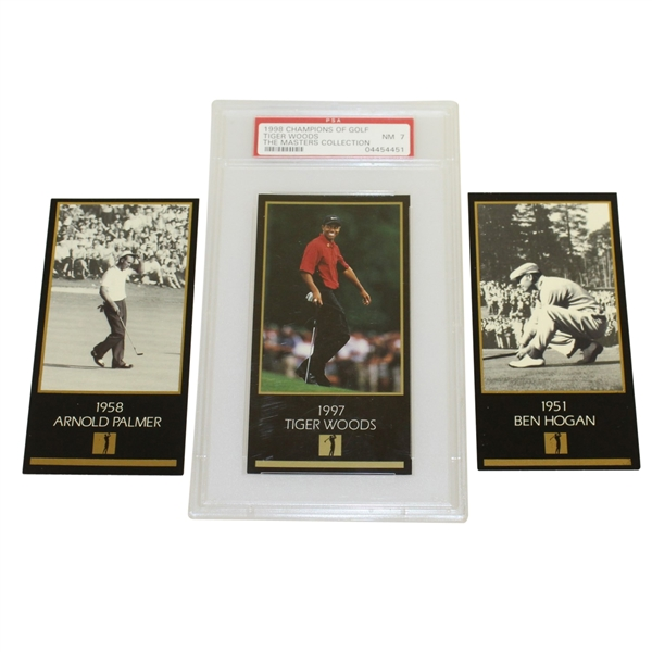 Tiger Woods NM7, Arnold Palmer, & Ben Hogan The Masters Collection Cards