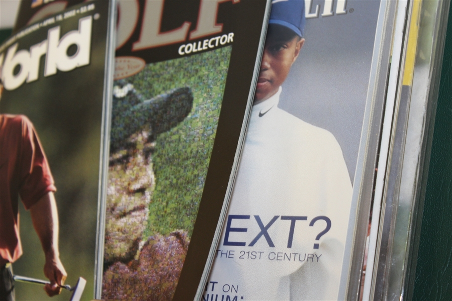 Large Assortment of Tiger Woods Magazines - Front Cover of Each