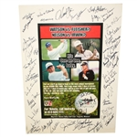 Senior Match Play Championship Signed by Over 50 with Archer, Wall, Trevino, etc JSA ALOA