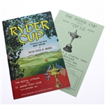 1961 The Ryder Cup at Royal Lytham & St Annes Program with Saturday Schedule/Pairing Sheet
