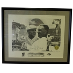Limited Edition #51/2500 Ben Hogan The Hawk Lithograph by David Rother - Framed