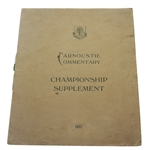 1937 Open Championship Carnoustie Commentary Supplement