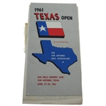 1961 Texas Open Golf Tournament Program and Marshal Arm Band - Arnold Palmer Win