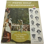 1958 Pepsi Golf Championship Program and Pairing Sheets - Held Once - Arnold Palmer Win