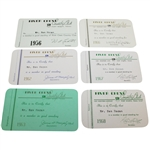 Ben Hogans River Crest Country Club Membership Cards - Six Cards