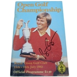 Bill Rogers Signed 1982 Open Championship at Royal Troon Program JSA ALOA