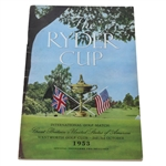 1953 The Ryder Cup at Wentworth Golf Club Program - USA Winner 6 1/2 - 5 1/2