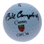 Bill Campbell Signed Canterbury Logo Golf Ball - Site of 1964 US Amateur Victory JSA ALOA