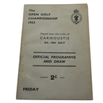 1953 Open Championship at Carnoustie Official Program - Friday - Ben Hogan Winner