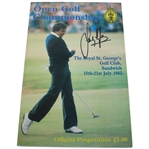 Sandy Lyle Signed 1985 Open Championship at Royal St. Georges Program JSA ALOA