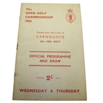 1953 Open Championship at Carnoustie Program - Wed & Thurs - Ben Hogan Winner