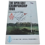 Tony Jacklin Signed 1969 Open Championship at Royal Lytham & St. Annes Program JSA ALOA