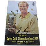 Gary Player Signed 1974 Open Championship at Royal Lytham & St. Annes Program JSA ALOA