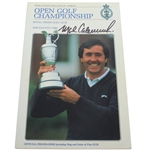 Mark Calcavecchia Signed 1989 Open Championship at Royal Troon Program JSA ALOA